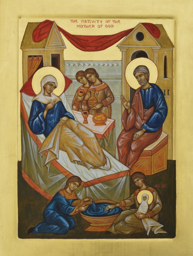 Tamara Penwell's icon of The Nativity of the Mother of Gosd