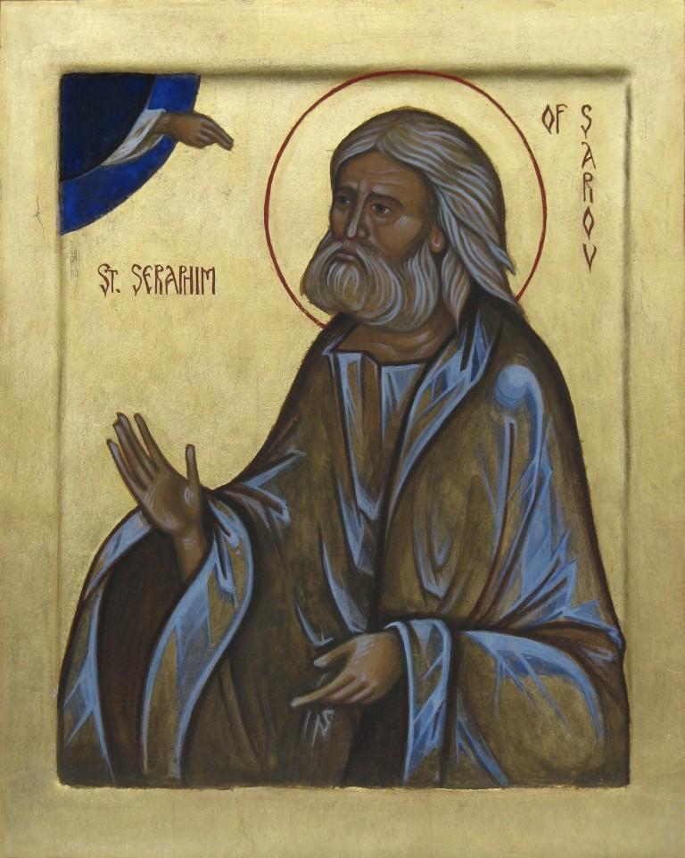 Tamara Penwell's icon of Saint Seraphim of Sarov