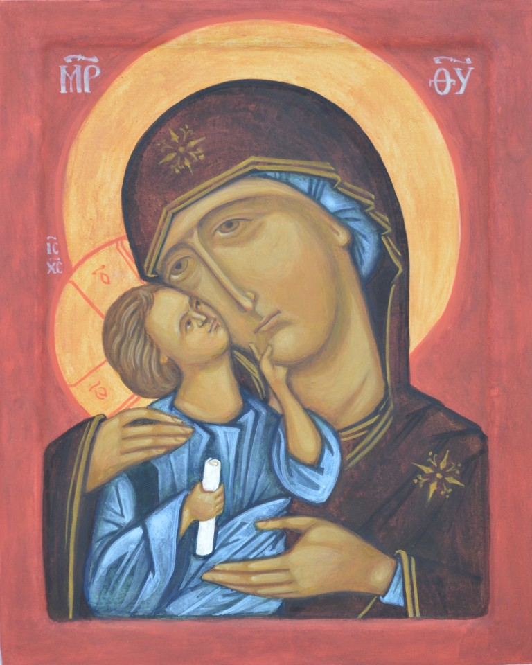 Tamara Penwell's icon of The Mother of God of Tender Compassion
